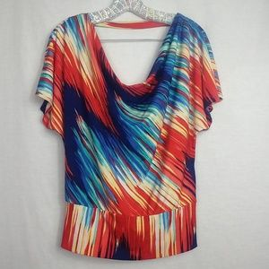 HeartSoul medium Multicolored Loose Fitting Blouse